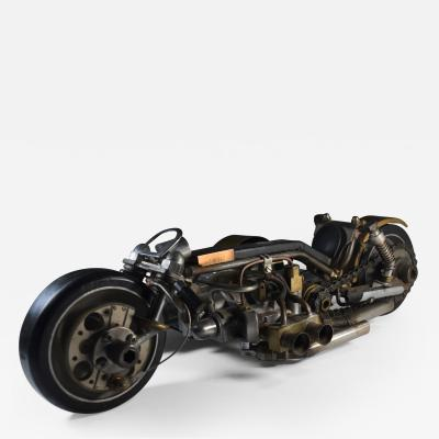 Motorcycle One of a Kind Machine Age Sculpture by John Gallagher