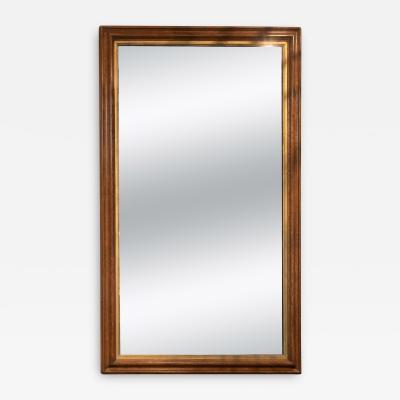 Moulded Oak Mirror Frame With Gilt Slip Original Mercury Plate