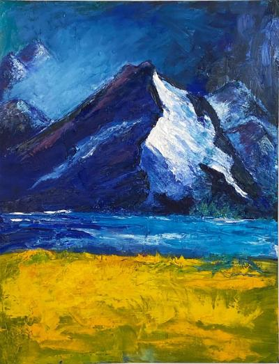 Mountain Scene American Circa 1950