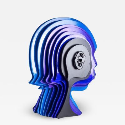 Multidimensionals Head Sculpture by Rudolf Kohn USA 2018