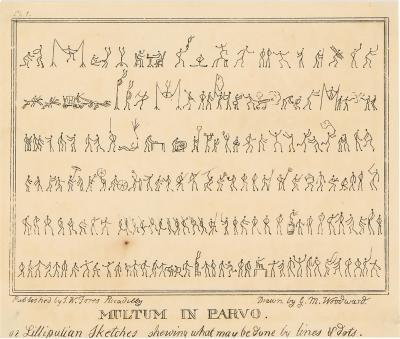 Multum In Parvo Engraving by G M Woodward