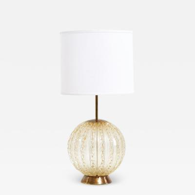 Murano Barbini Controlled Bubble Table Lamp Italy 1950