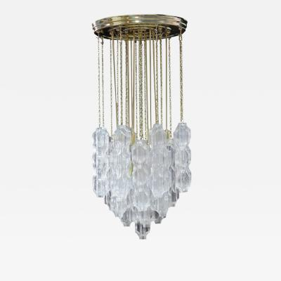 Murano Chandelier with Abstract Glass Elements 1960s