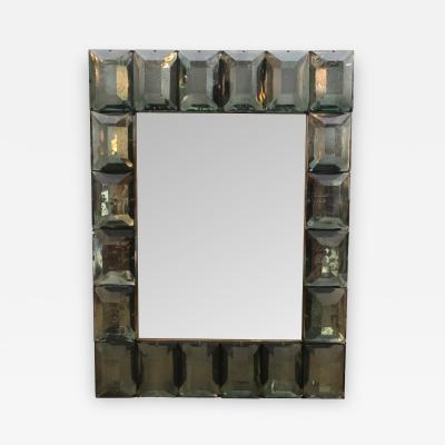Murano Diamond Faceted Glass Framed Mirror