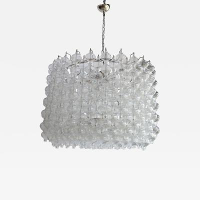Murano Glass 1980s Tulip Drum Chandelier