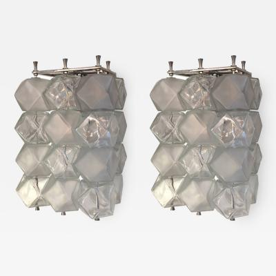 Murano Glass Cube Sconces Italy 1960s