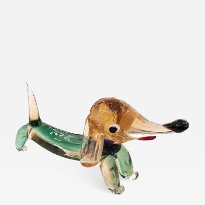 Murano Glass Dog Sculpture