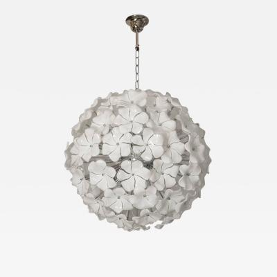 Murano Glass Flowers Chandelier Cenedese Style