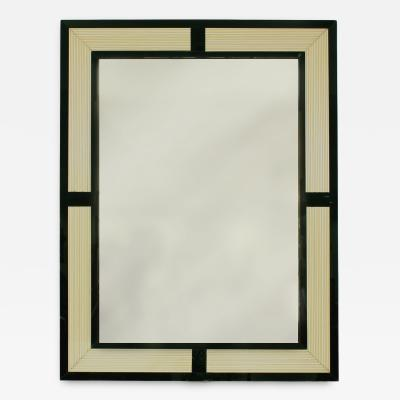 Murano Glass Frame Wall Mirror Mid 20th Century