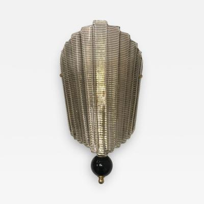 Murano Glass Midcentury Style Ventolina Wall Sconce
