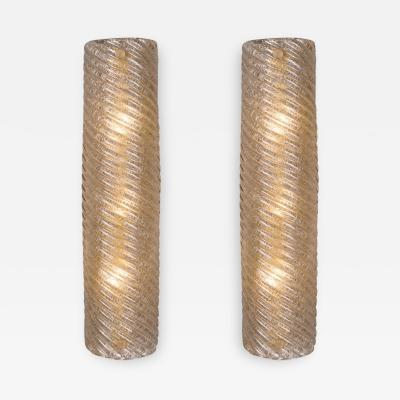 Murano Glass Ridged Wall Sconces