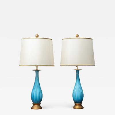 Murano Glass Table Lamps by Mabro