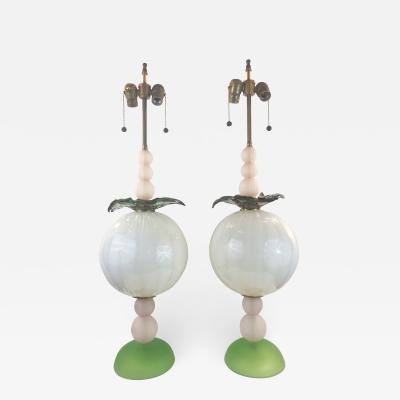 Murano Hand Blown Studio Table Lamps