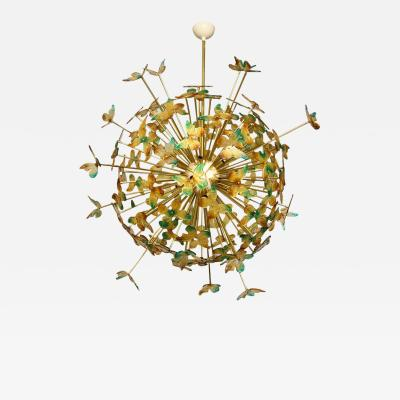 Murano Luxury Glass Murano Glass Butterfly Sputnik Chandelier