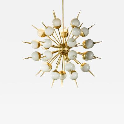 Murano Smokey Glass Globes Sputnik Chandelier