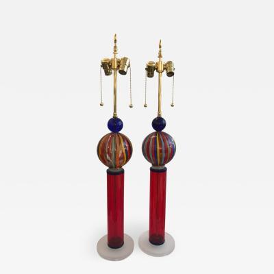 Murano Studio Glass Table Lamps