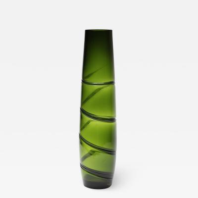 Murano Swirl Hand Blown Glass Vase 1970 Italy