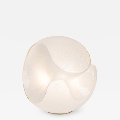 Murano White Glass Table Lamp