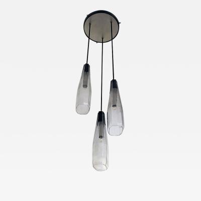 Murano glass three light chandelier 1970s