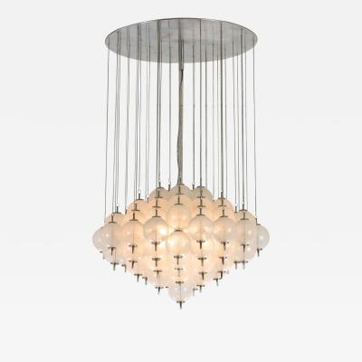 Murano pulegoso glass chandelier 1960s