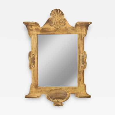 Mustard Gold Painted Trompe L oeil Mirror