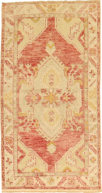 Muted Red Vintage Oushak Rug rug no r5242