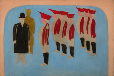 Myron Lechay Seven Soldiers and Two Men