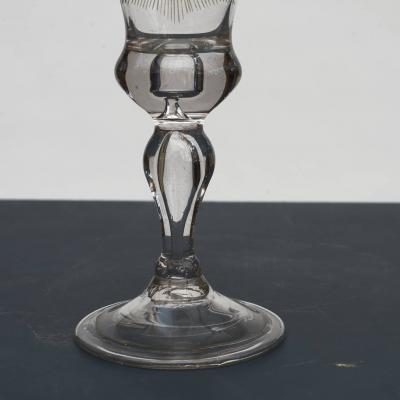 N STETANGEN CHRYSTAL DESERT GLASS WITH FREDERIK VS CROWNED MONOGRAM