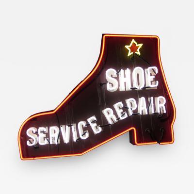NEON SHOE REPAIR SIGN 1930 S STYLE