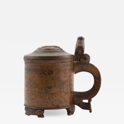 NORWEGIAN 18TH CENTURY BIRCH ROOT PEG TANKARD