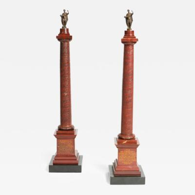 NW 02 Pair of Rosso Antico Marble Grand Tour Columns