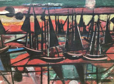 Nahum Tschacbasov Abstract Sailing 1945