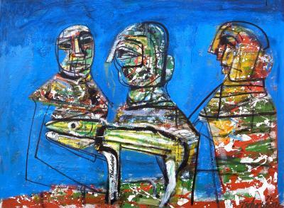 Nahum Tschacbasov Three Figures
