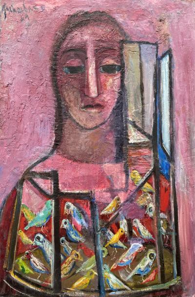 Nahum Tschacbasov Woman and Birds