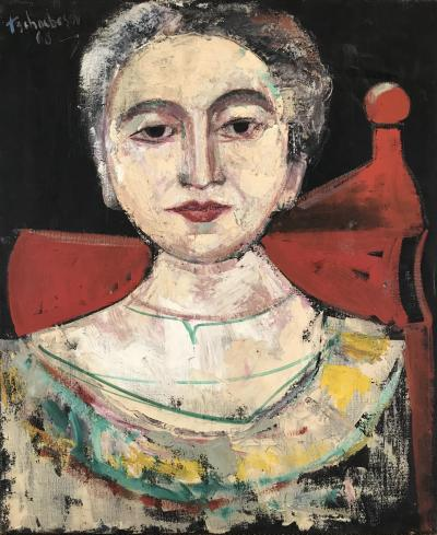 Nahum Tschacbasov Woman in Red Chair