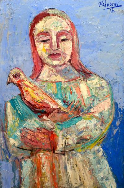 Nahum Tschacbasov Woman with Bird