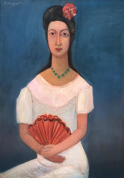 Nahum Tschacbasov Woman with Fan