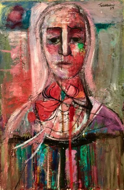 Nahum Tschacbasov Woman with Red Bow