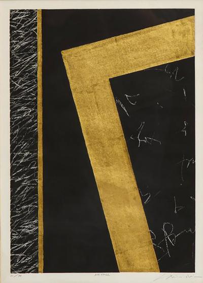 Nakazawa Shinichi Nakazawa Shinichi Black and Gold Leaf Print