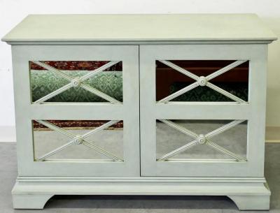 Nancy Corzine Modern Nancy Corzine Regency Buffet Mirrored Sideboard