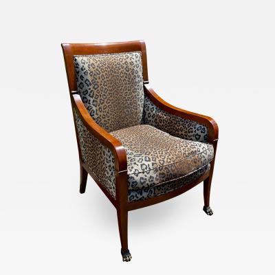 Nancy Corzine Nancy Corzine Designer Club Chair W Cheetah Fabric