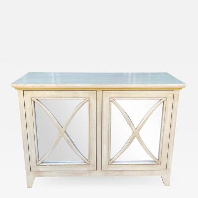 Nancy Corzine Nancy Corzine Mirrored Lombard Buffet Console Cabinet Credenza