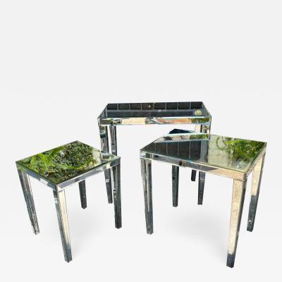 Nancy Corzine Nancy Corzine Mirrored Nesting Tables Set of 3
