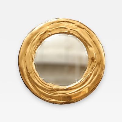 Nancy Lorenz 18 Inch Red Gold Mirror 2017