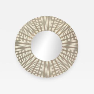 Nancy Lorenz Palladium and Pearl Radiating Mirror 2017