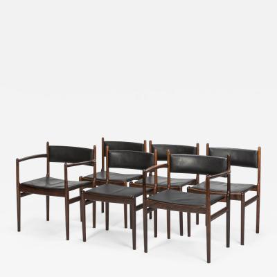 Nanna Ditzel 6 Nanna Ditzel Rosewood Dining Chairs S ren Willadsen