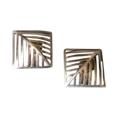 Nanna Ditzel Georg Jensen Sterling Silver Grates Earrings No 389 by Nanna Ditzel