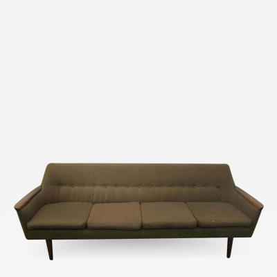 Nanna Ditzel Nanna Ditzel Style Four Seat Sculptural Teak Sofa Mid Century Danish Modern