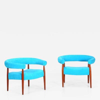 Nanna Ditzel Pair of Original Nanna Ditzel Ring Chairs