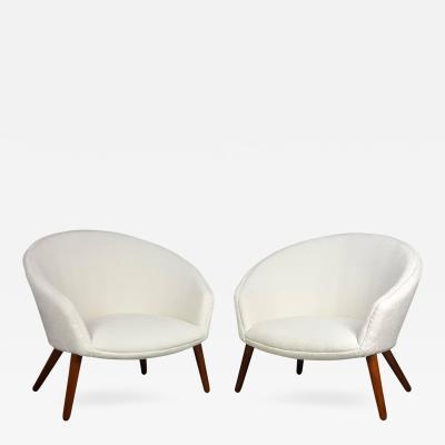 Nanna Ditzel Rare Pair of Nanna Ditzel Pot Lounge Chairs for AP Stolen Denmark 1953